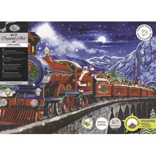 Craft Buddy CAK-A113XL - Framed Crystal Art Kit XXL - Santa Express