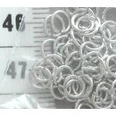Jump Rings - 5 mm silvery (50 pieces)