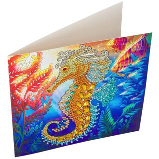Craft Buddy CCK-A48 - Crystal Card Golden Seahorse
