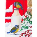 Craft Buddy CCKXL-9 - XL Crystal Card Birds Milkshake