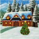 Craft Buddy CCK-XM10 - Crystal Card Kit Christmas Cottage